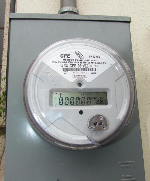 medidor bidireccional para paneles solares interconectados a CFE