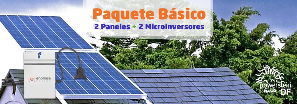 PAQUETE BASICO DE PANELES SOLARES